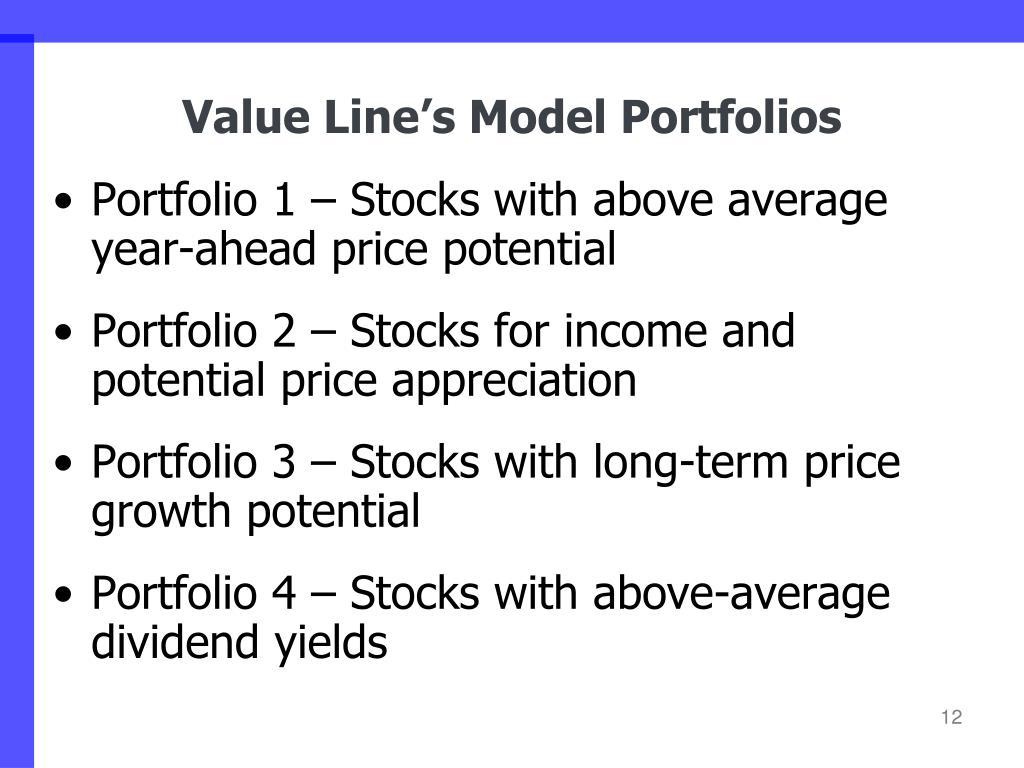 Value Line's Model Portfolios