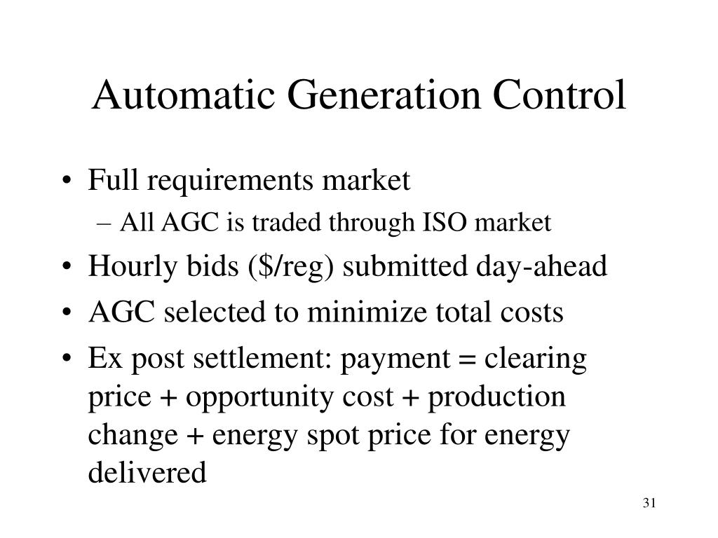 Automatic Generation Control