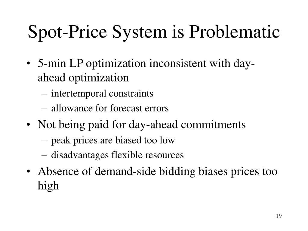 Spot-Price System is Problematic