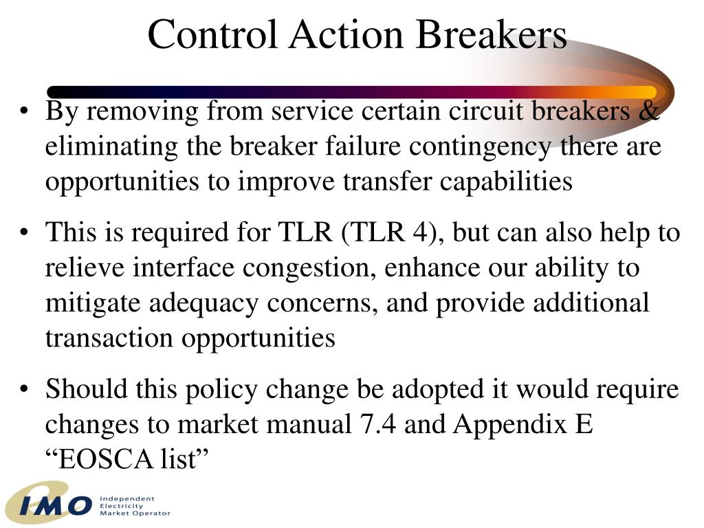 Control Action Breakers