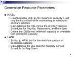 generation resource parameters6