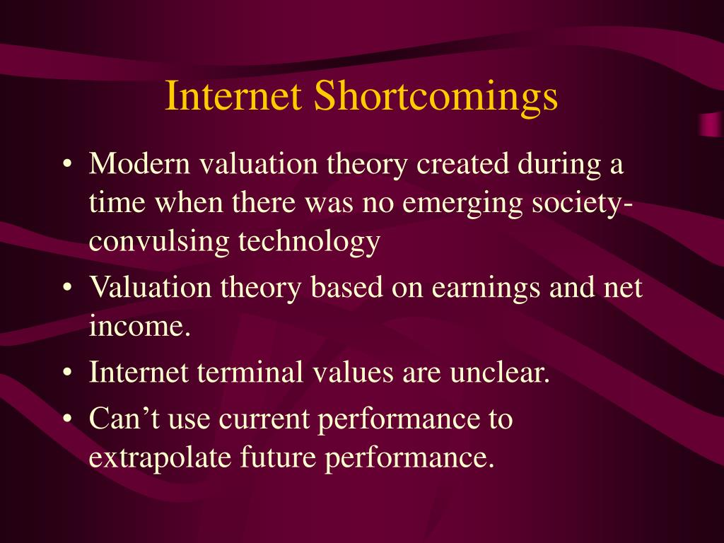 Internet Shortcomings