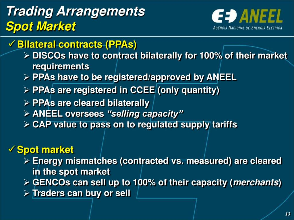 Trading Arrangements