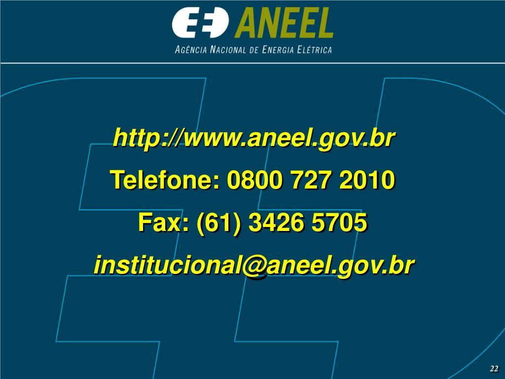 http://www.aneel.gov.br