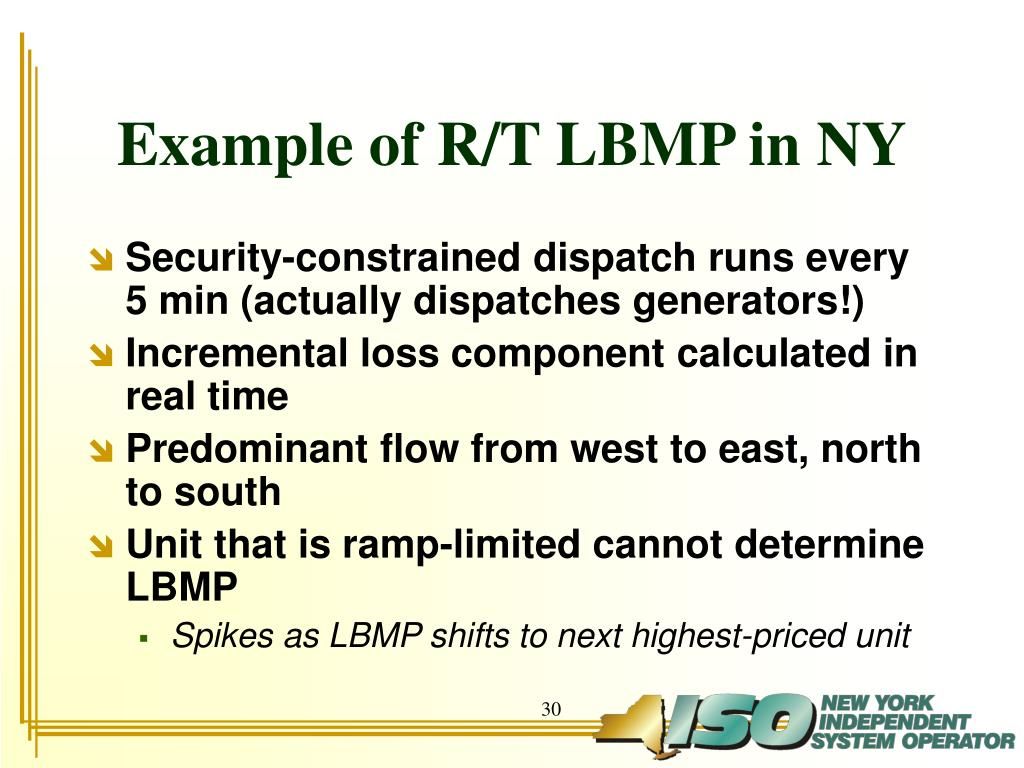 Example of R/T LBMP in NY