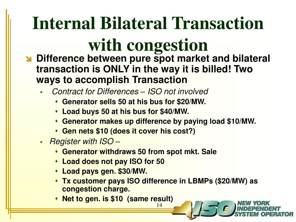 Internal Bilateral Transaction
