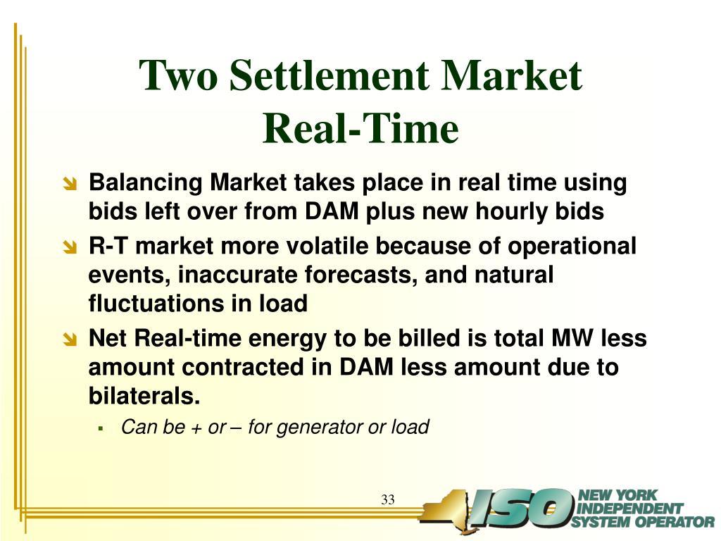 Two Settlement Market