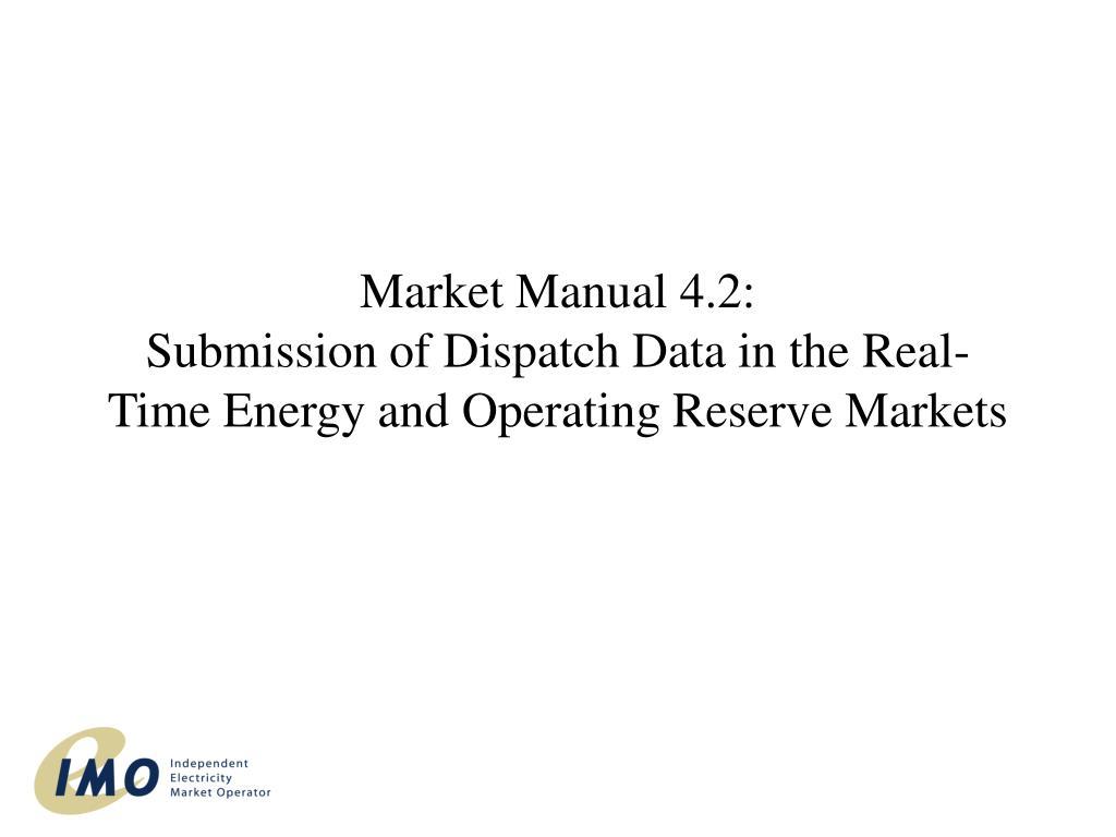 Market Manual 4.2: