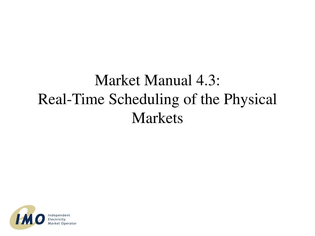 Market Manual 4.3: