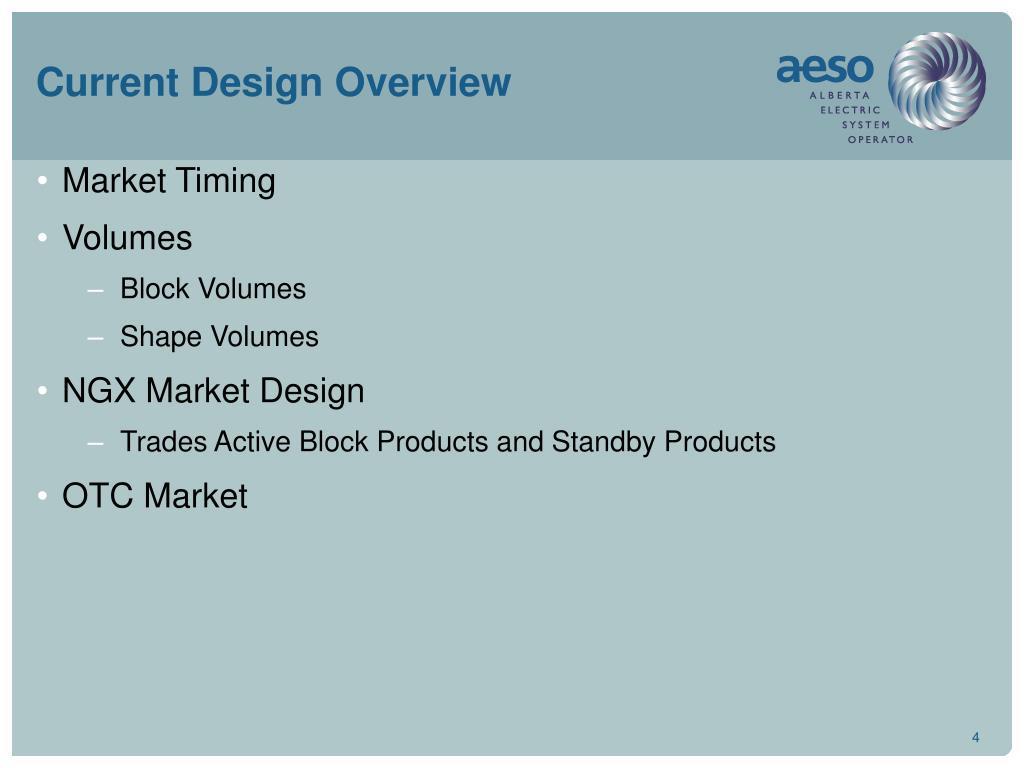 Current Design Overview