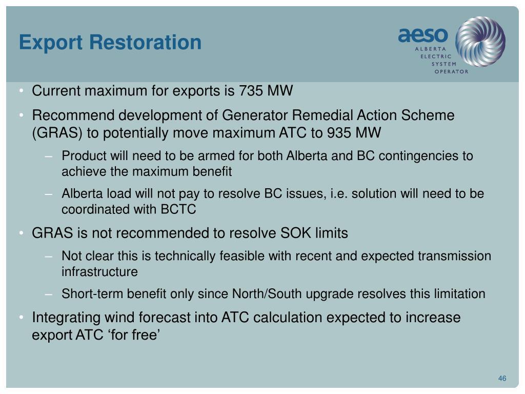 Export Restoration