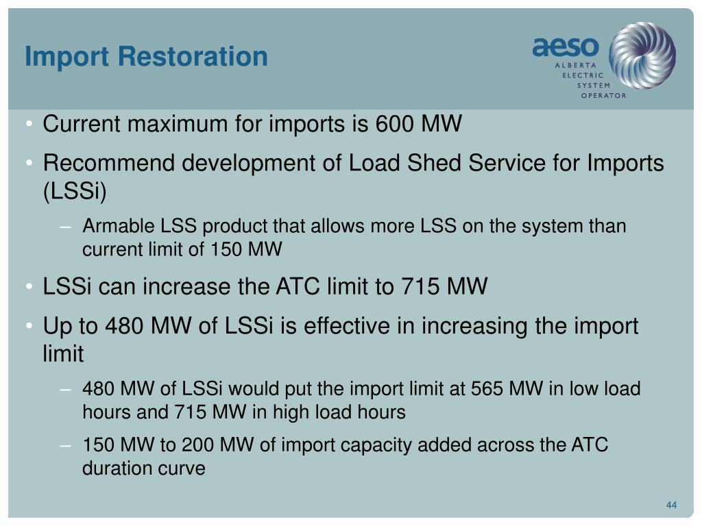 Import Restoration