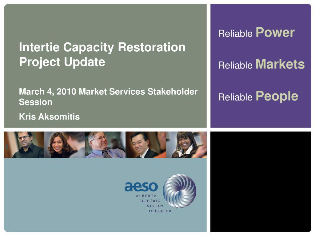 Intertie Capacity Restoration