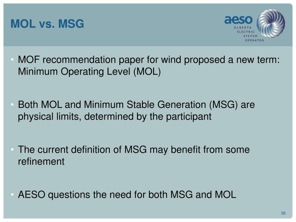 MOL vs. MSG