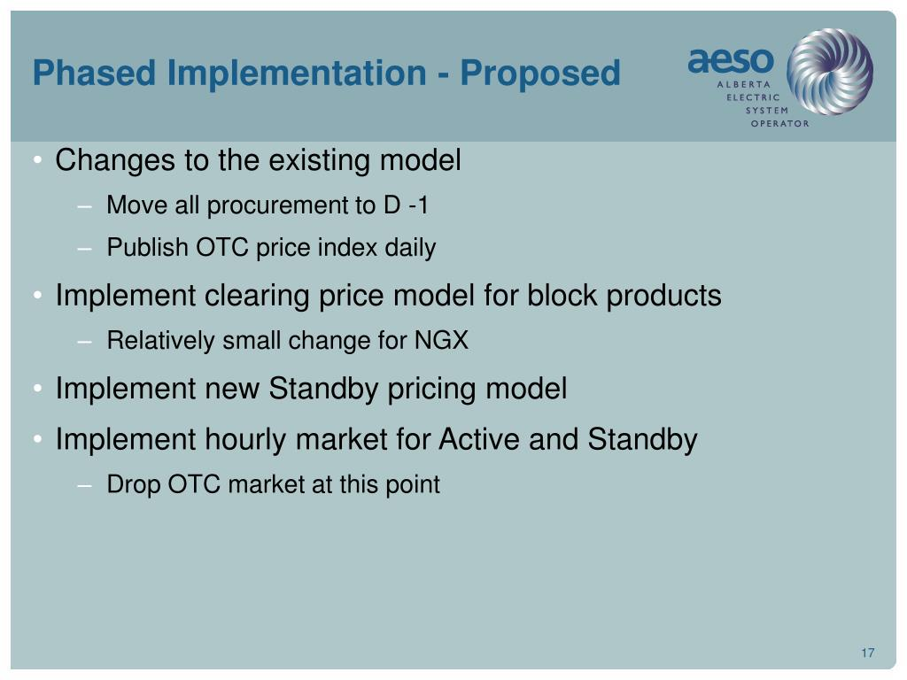 Phased Implementation - Proposed