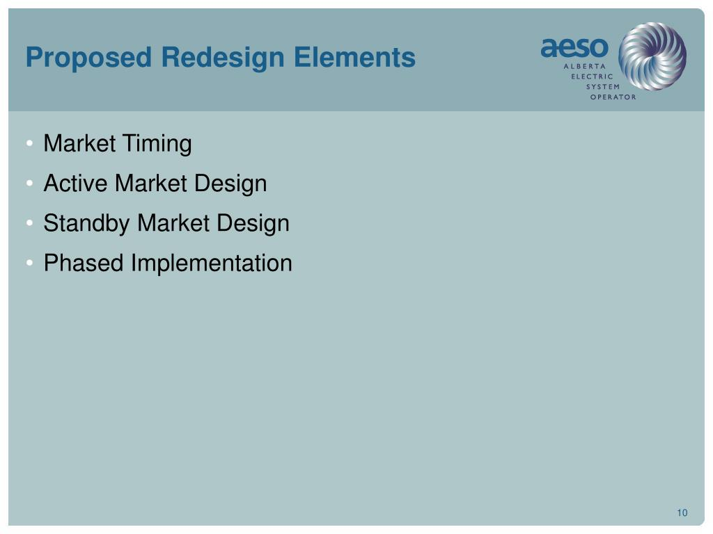 Proposed Redesign Elements