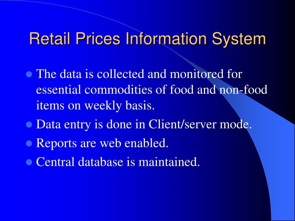 Retail Prices Information System