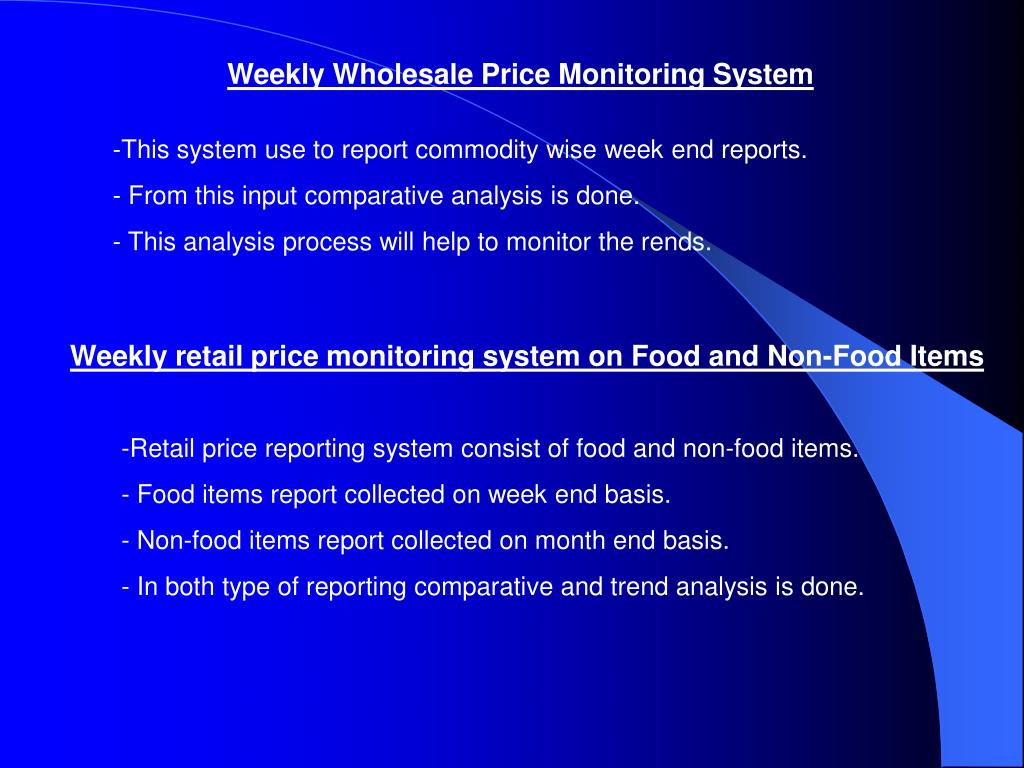Weekly Wholesale Price Monitoring System