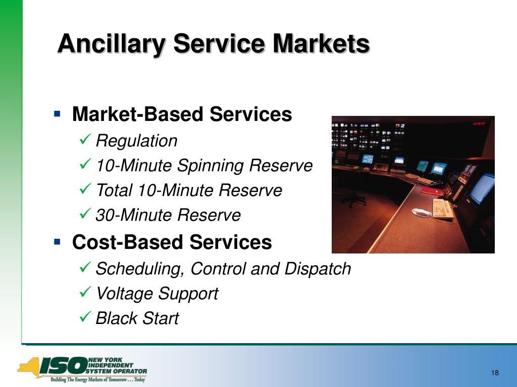 Ancillary Service Markets
