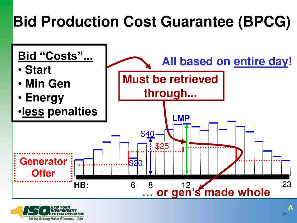 Bid Production Cost Guarantee (BPCG)