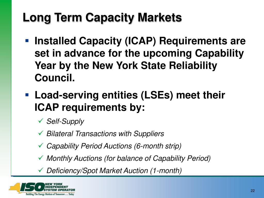 Long Term Capacity Markets