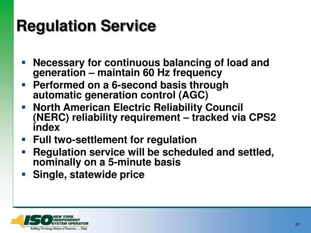 Regulation Service