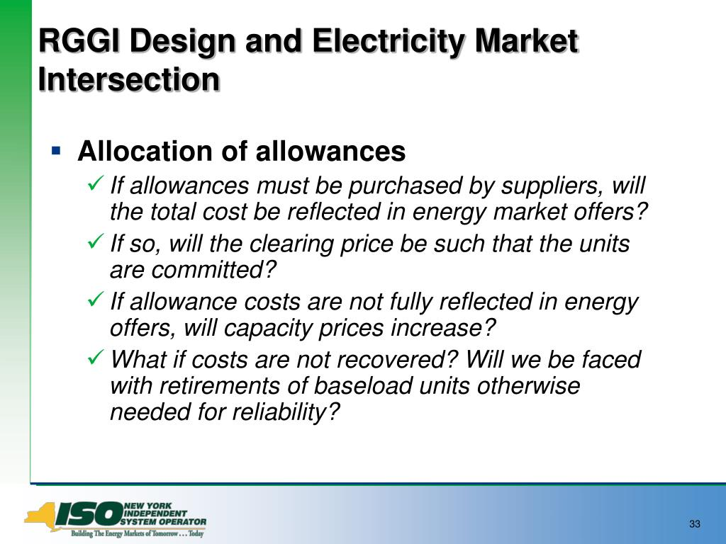 RGGI Design and Electricity Market Intersection