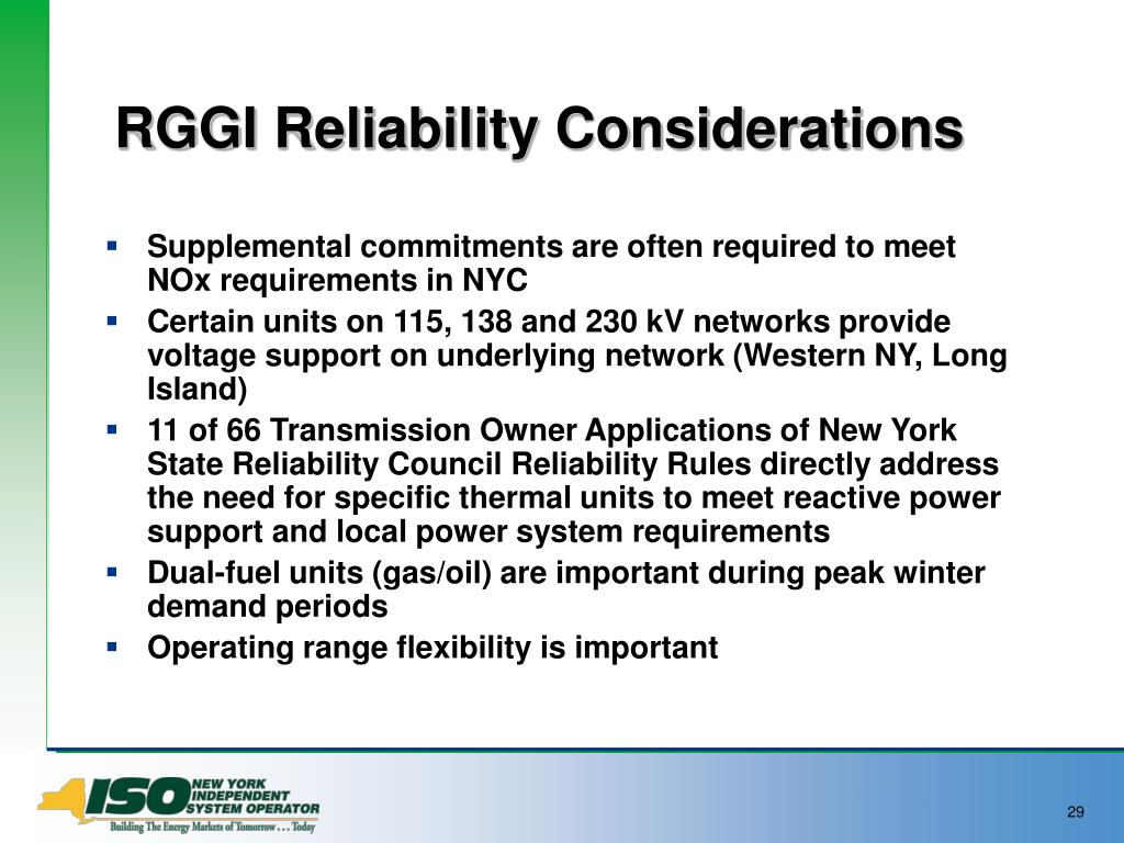 RGGI Reliability Considerations