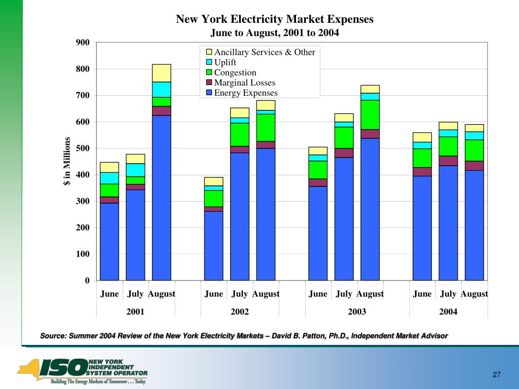 Source: Summer 2004 Review of the New York Electricity Markets – David B. Patton, Ph.D., Independent Market Advisor