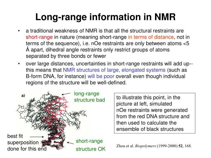Long-range information in NMR