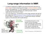 long range information in nmr