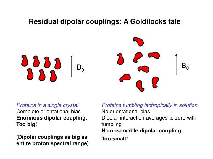 Residual dipolar couplings: A Goldilocks tale