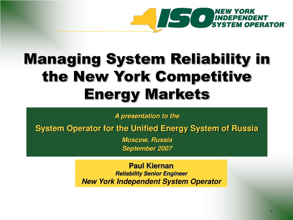Managing System Reliability in the New York Competitive Energy Markets