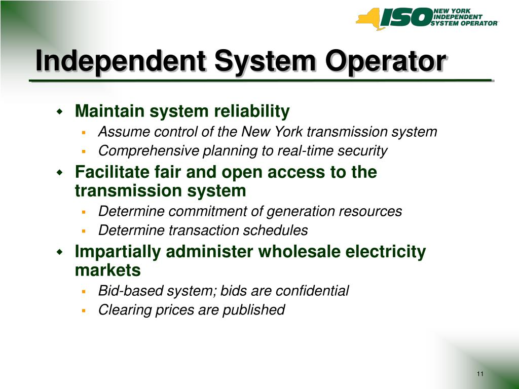 Independent System Operator