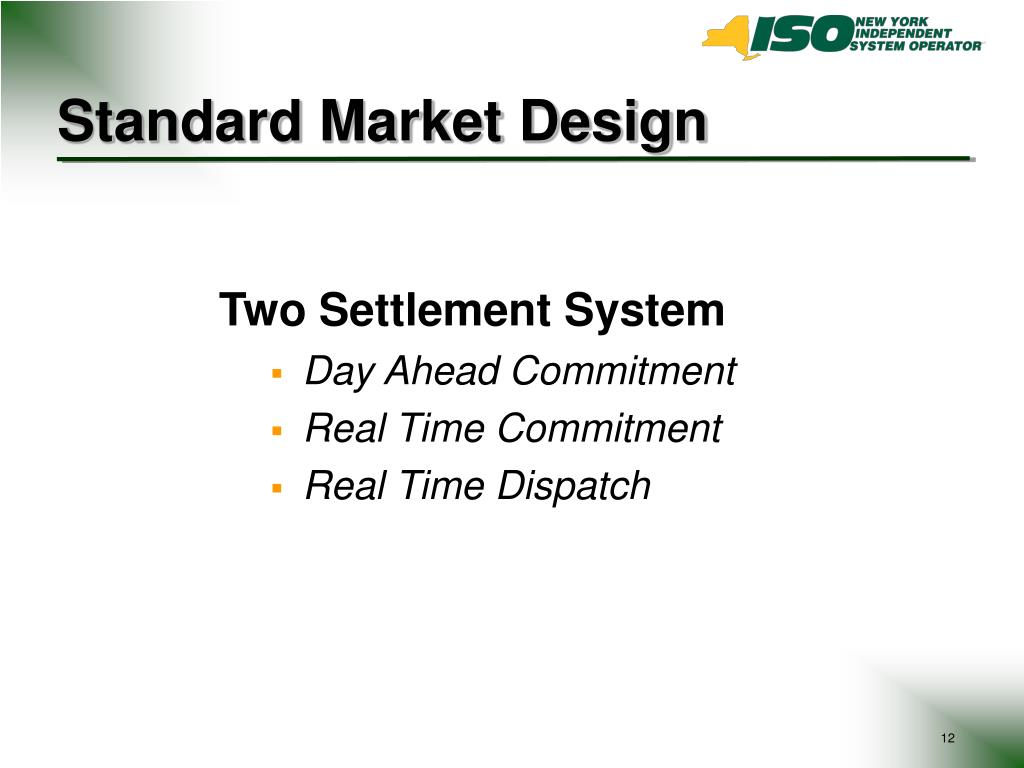 Standard Market Design