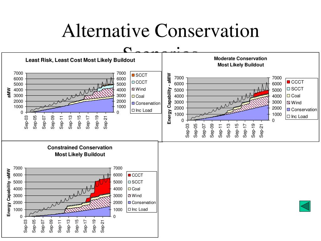 Alternative Conservation Scenarios