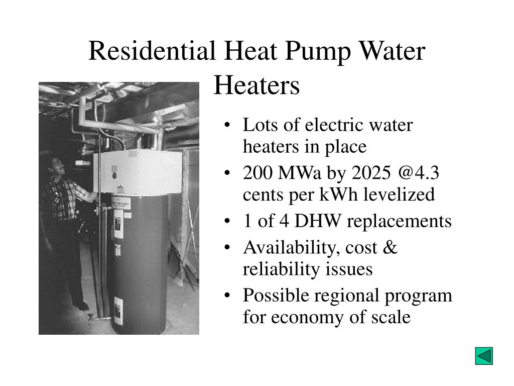 Residential Heat Pump Water Heaters