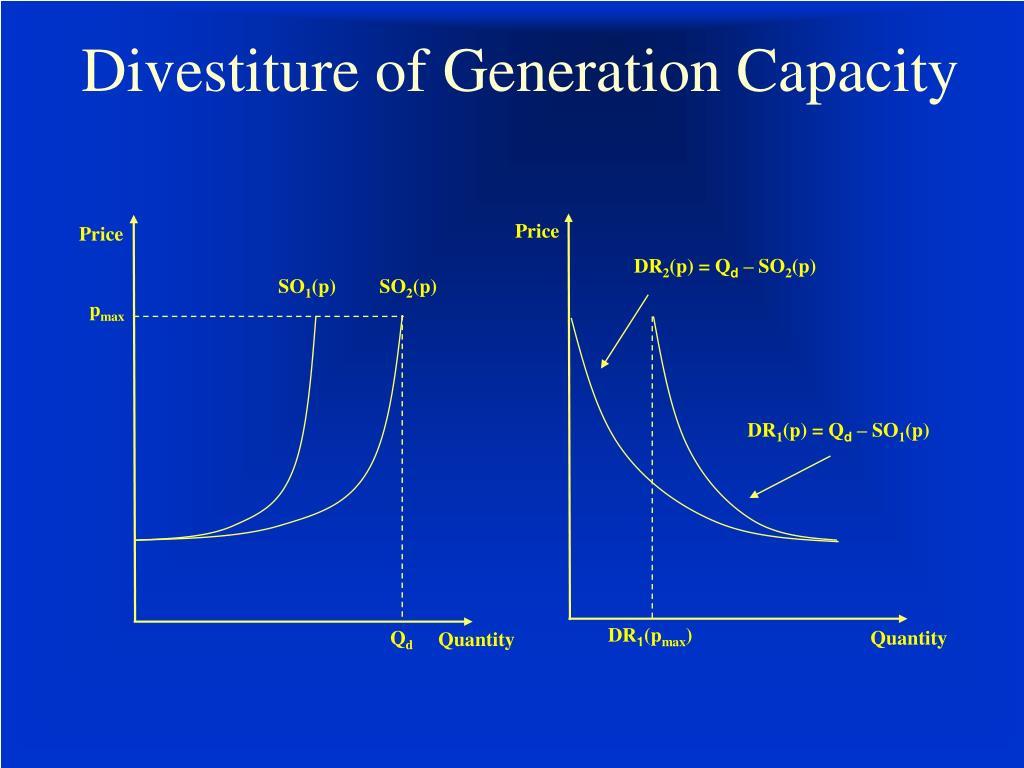Divestiture of Generation Capacity