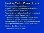 limiting market power of firm