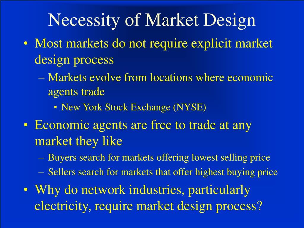 Necessity of Market Design