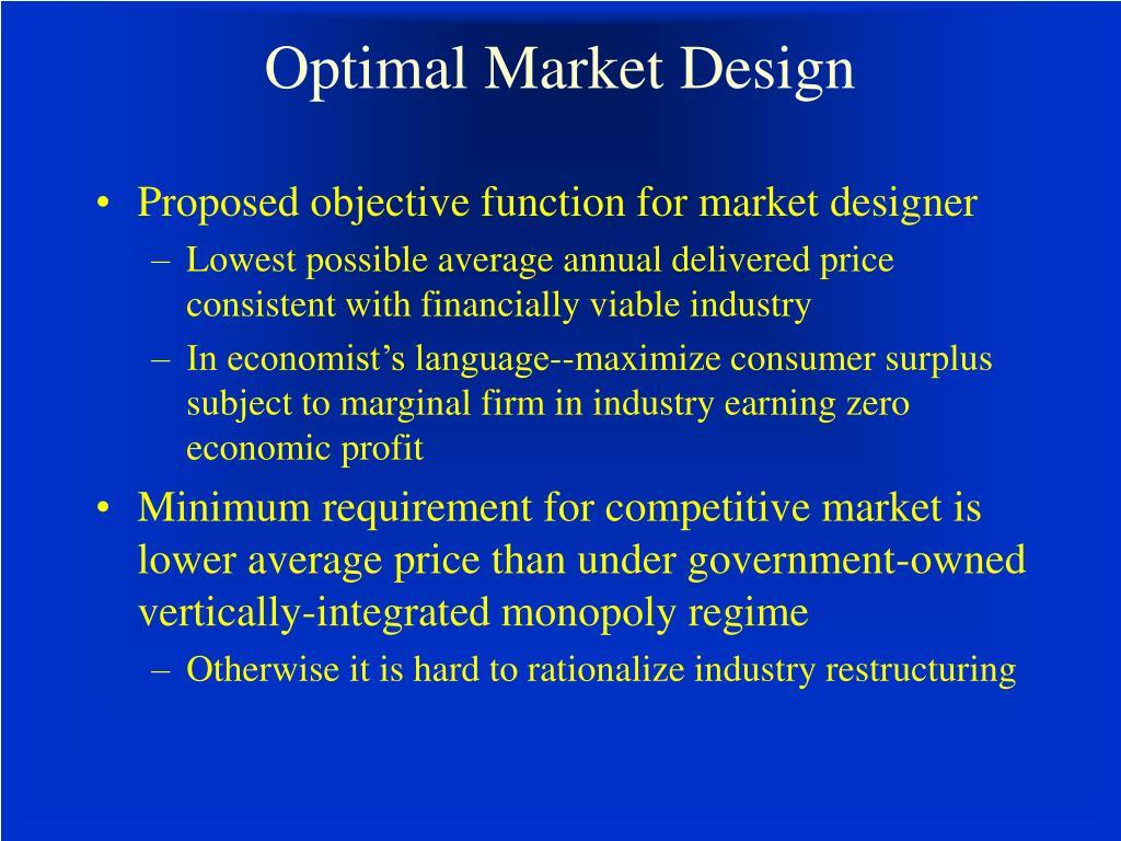 Optimal Market Design