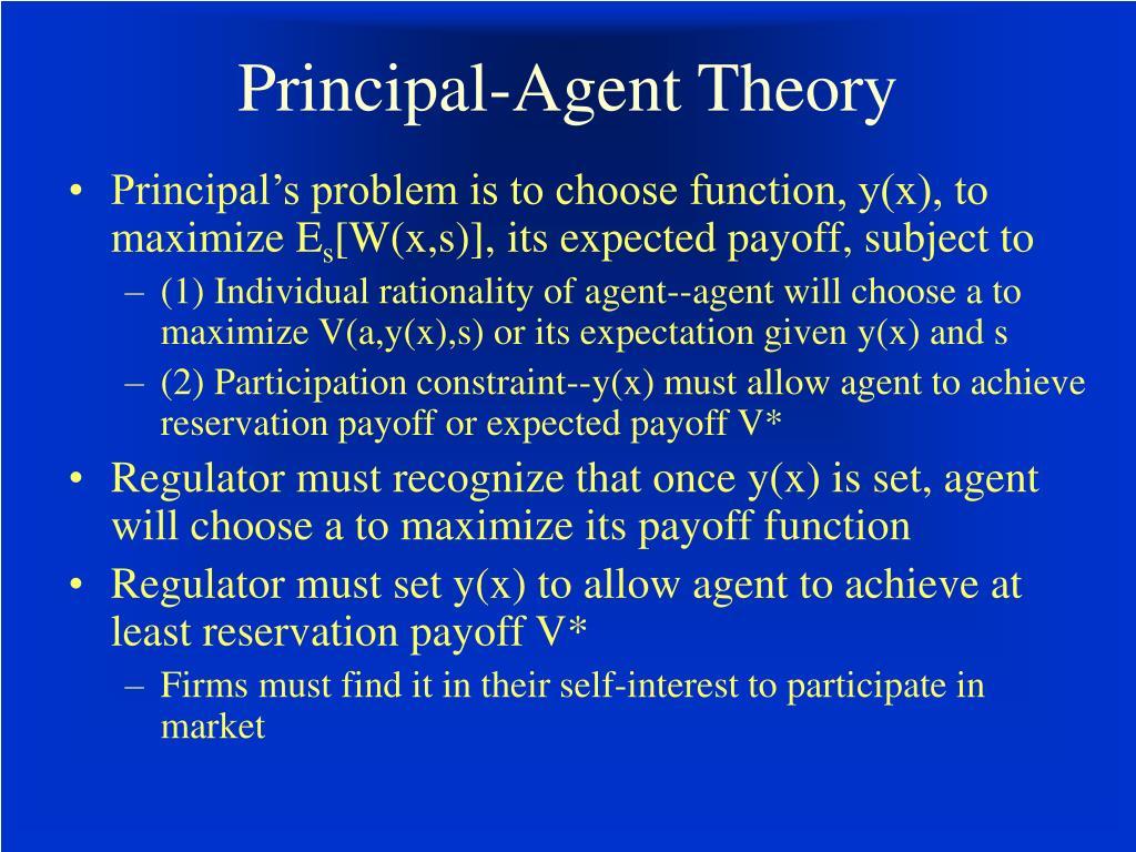 Principal-Agent Theory