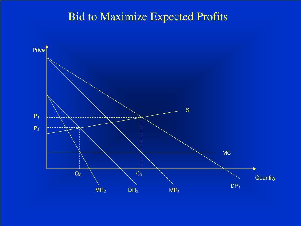 Bid to Maximize Expected Profits