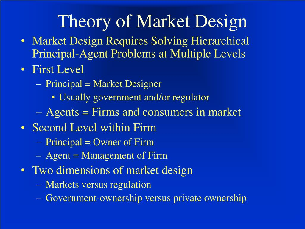Theory of Market Design
