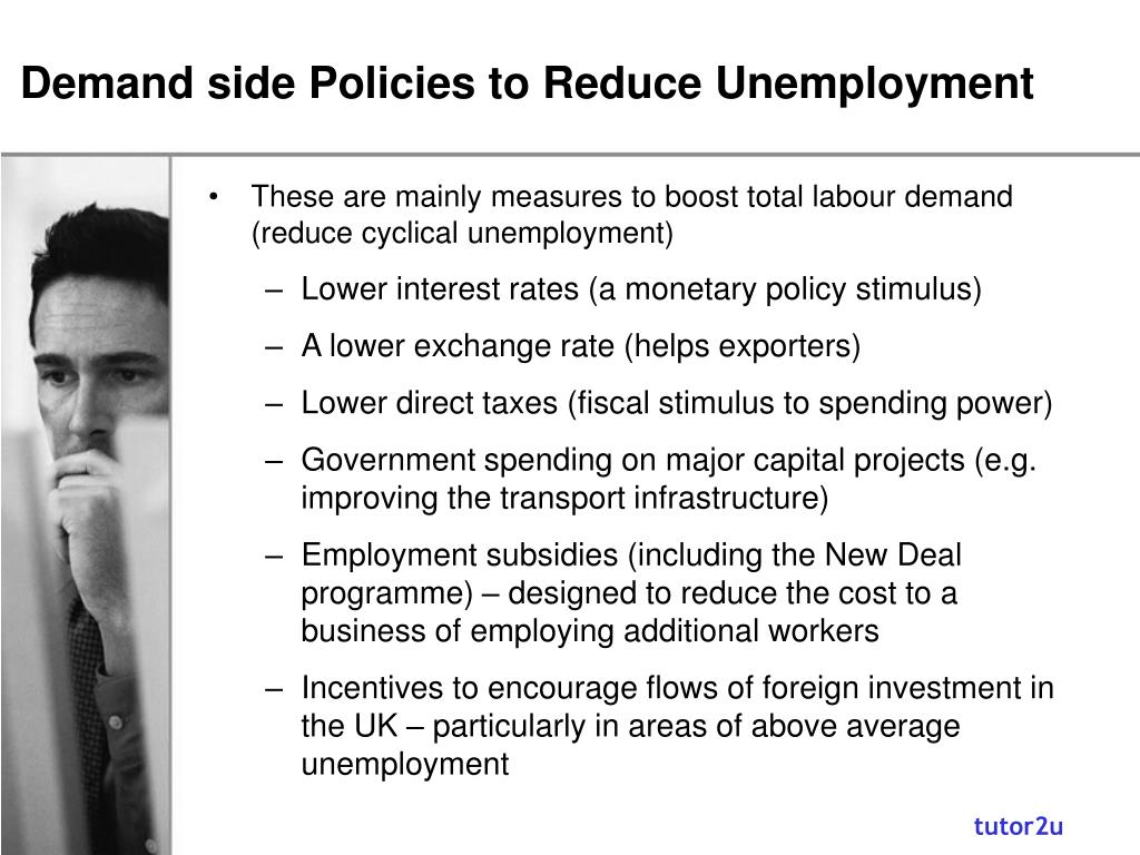 Demand side Policies to Reduce Unemployment