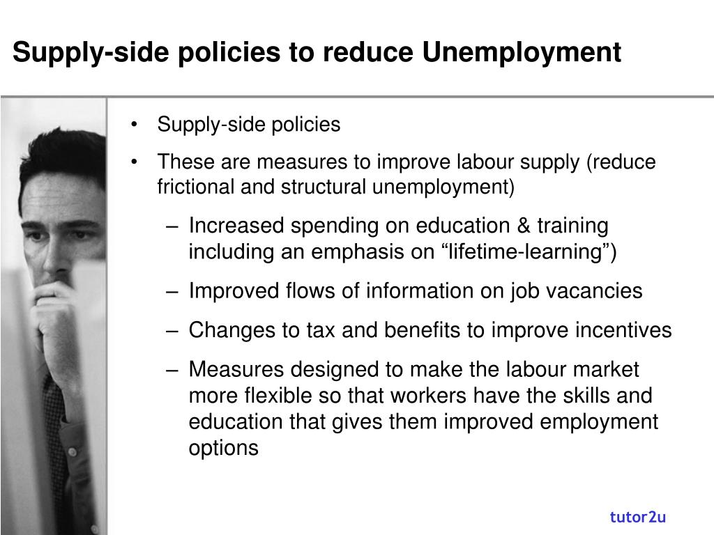 Supply-side policies to reduce Unemployment