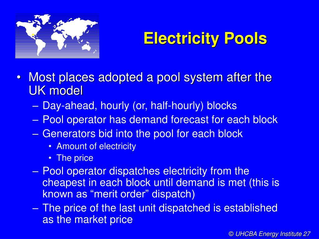 Electricity Pools