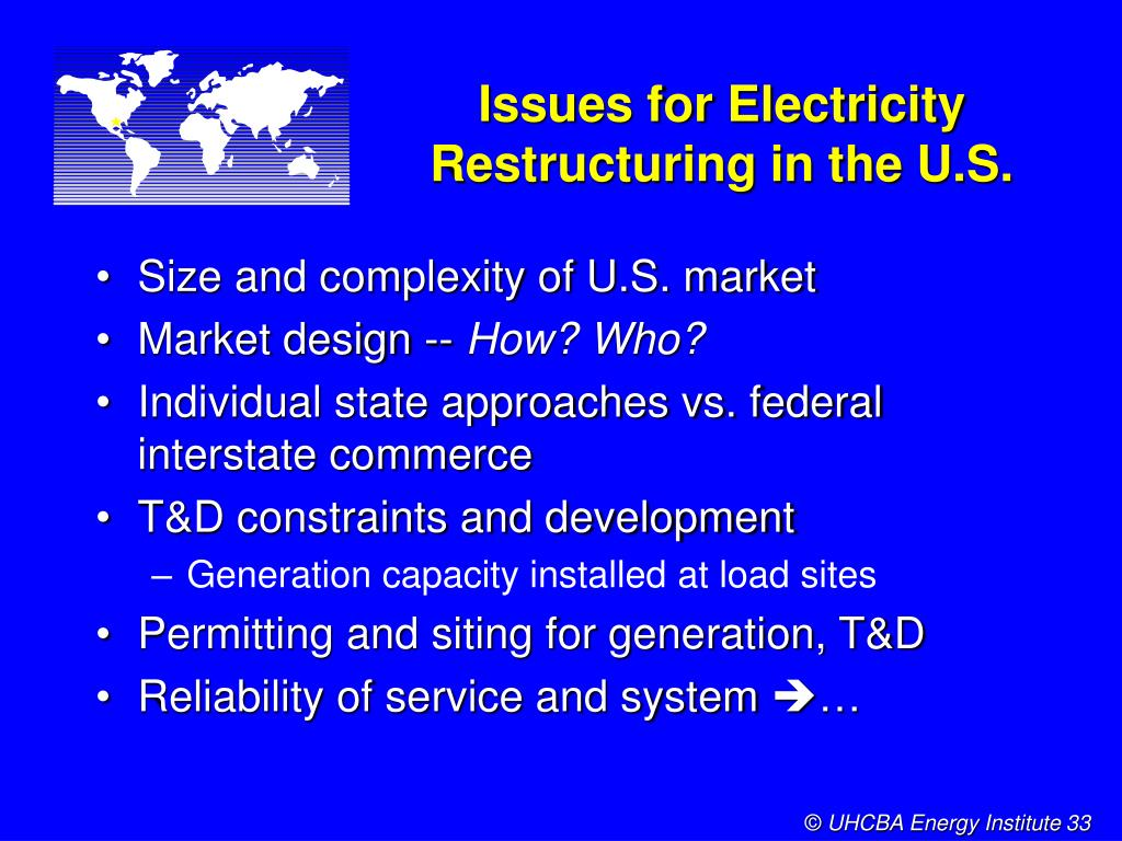 Issues for Electricity