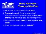 micro refresher theory of the firm