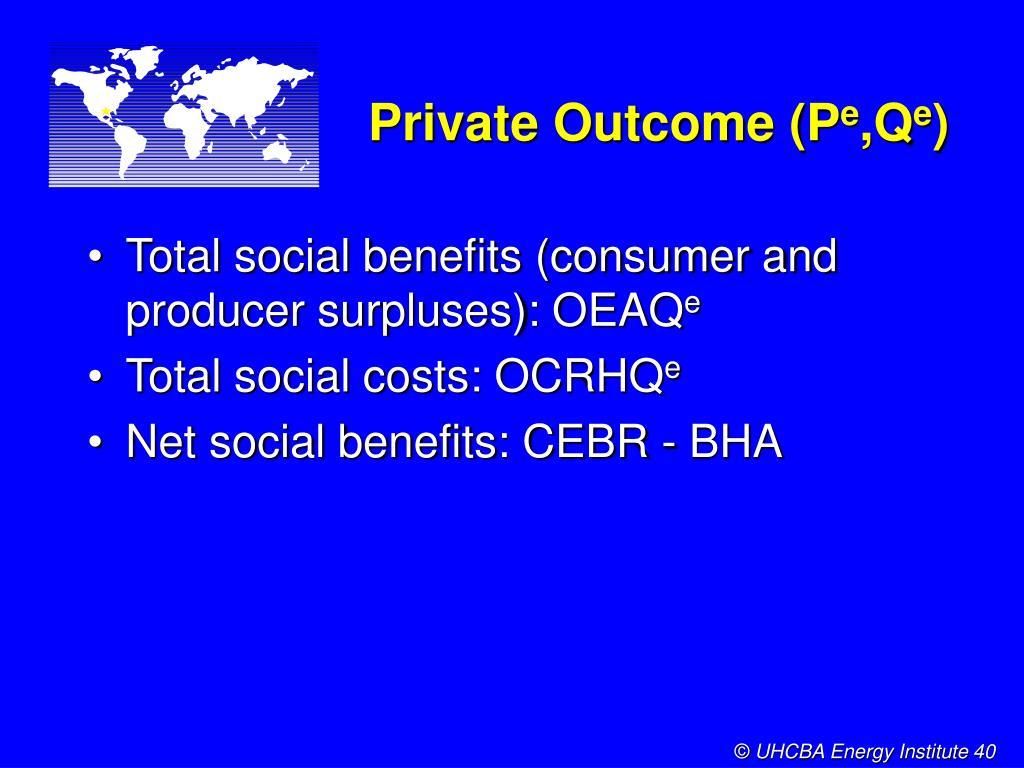Private Outcome (P